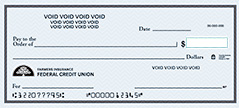 Image of a blank check